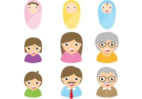 Vettori di Avatar di famiglia