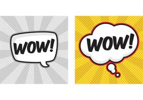 Comic speech bubble vectors