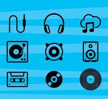 Iconos del vector de la música