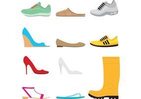 Conjunto de vetores de sapatos