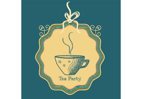 Fundo de vetor de copo de chá esboçado