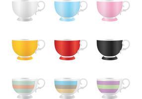 Vectores coloridos de la taza