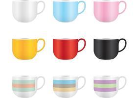 Taza de café de vectores de colores