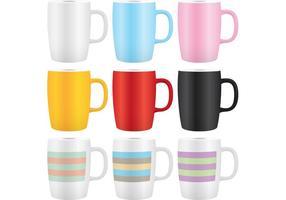 Färgrik kaffe rånar vektorer 02