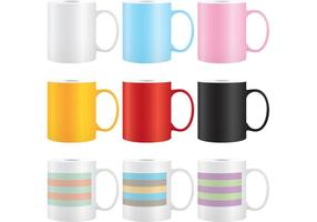 Vetores coloridos da caneca de café 03