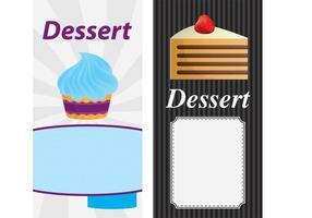 Vecteurs de cartes à gâteaux 02