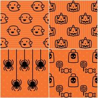 Padrões bonitos de Halloween vetor