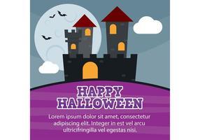 Cartão do castelo de Halloween