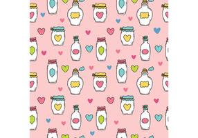 Free Cute Mason Jar Vector Pattern