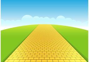 Gelbe Brick Road Vector