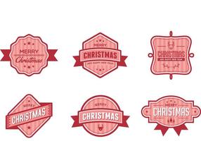 Christmas Badge Vectors