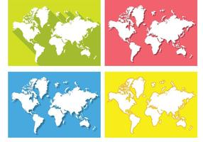 Earth map flat free vector art 12570 free downloads flat world map vectors gumiabroncs Choice Image