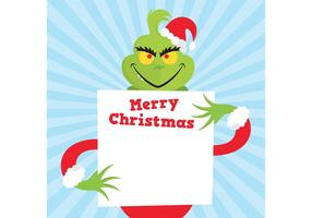 The Grinch Vector Face
