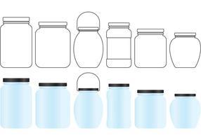 Mason Jar Vectores