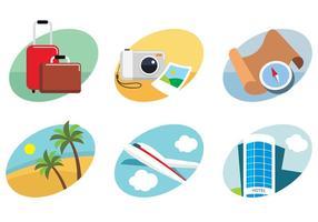 Reise flache Icons