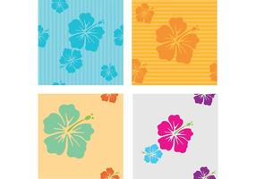 Hawaiian Flower Vector Patterns