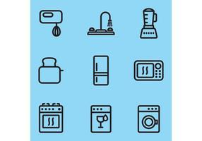 Itens de vetor de cozinha moderna