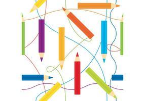 Color Pencils Vector Pattern