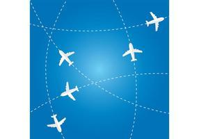 Vector de rutas de avión