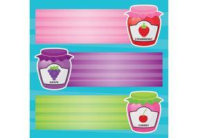 Bandeiras de vetores de jam frascos