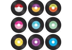 Vecteurs d'enregistrement en vinyle colorés