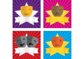 Theatre Vector Faces Backgrounds