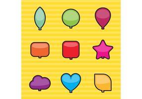 Vetores de balões de formas