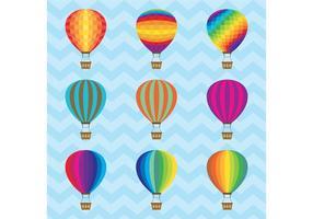 Vecteurs de ballon à air chaud