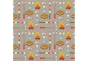 Free Camp Marshmallows Vector Pattern