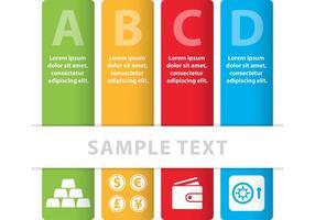 Bannières vectorielles colorées pour les entreprises
