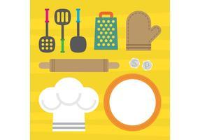 Elementi di cucina vettoriale