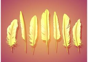 Vector la pluma aislada