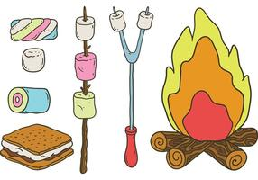 Gratis Camp Marshmallows vektorer