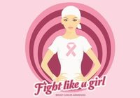 Free Vector Beautiful Breast Cancer Awareness Woman