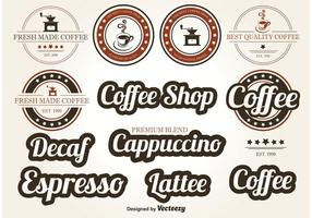 Koffie Vector Labels