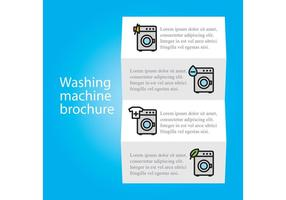 Wash Machine Brochure Vector Template