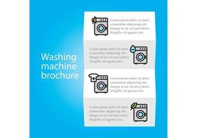 Wash Machine Brochure Vector Template