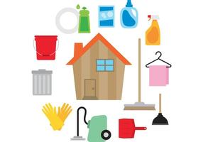 Vecteur maison propre