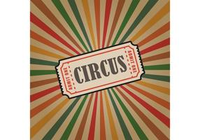 Vintage Circus Vector Ticket Background