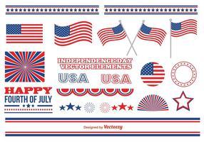 Elementos do vetor do Dia da Independência