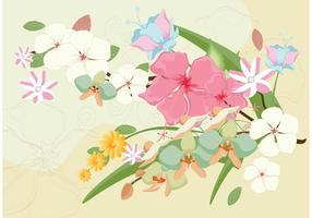 Beau vecteur de fleurs polynésiennes