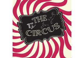 Vintage Circus Vector Bakgrund