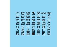 Wäsche Vektor Icons