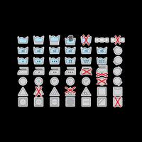Ícones coloridos do vetor da lavanderia