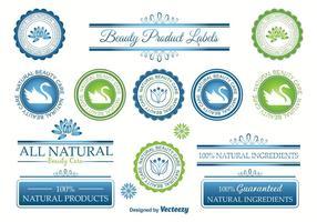 Etiquetas del vector de la belleza