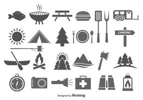 Camping & Camp Food Vector Icons