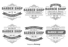 Barber Shop Insignia Label Vektoren