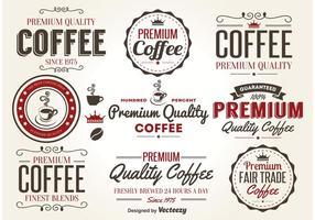 Retro Coffee Label Vectors