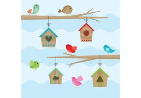 Vögel Haus Vektoren