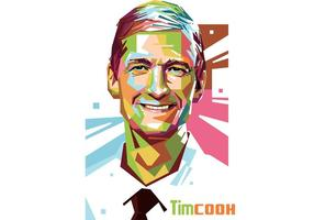 Tim Cook Vector Retrato